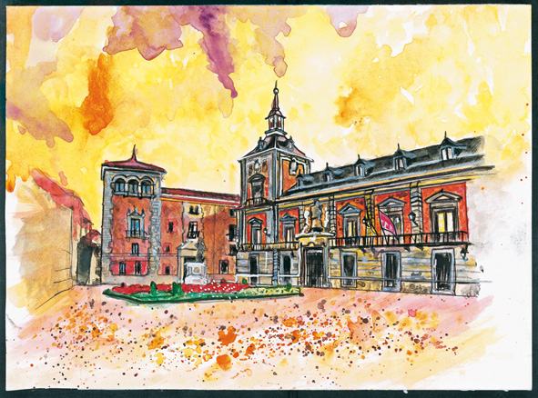 plaza-villa-watercolor-gorka