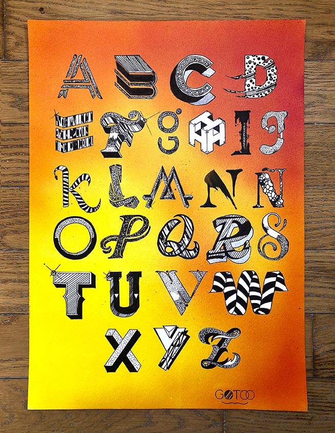 Alphabet-lettering